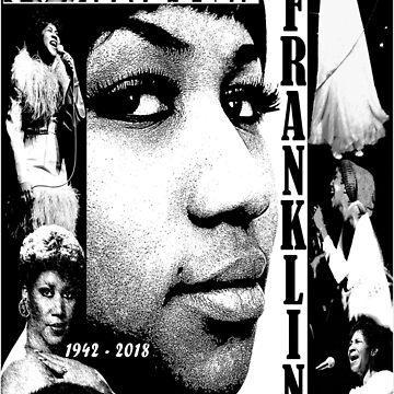 Aretha Franklin - R E S T I N Peace by UniqueCreator