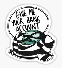 Bank Robber BMO Sticker