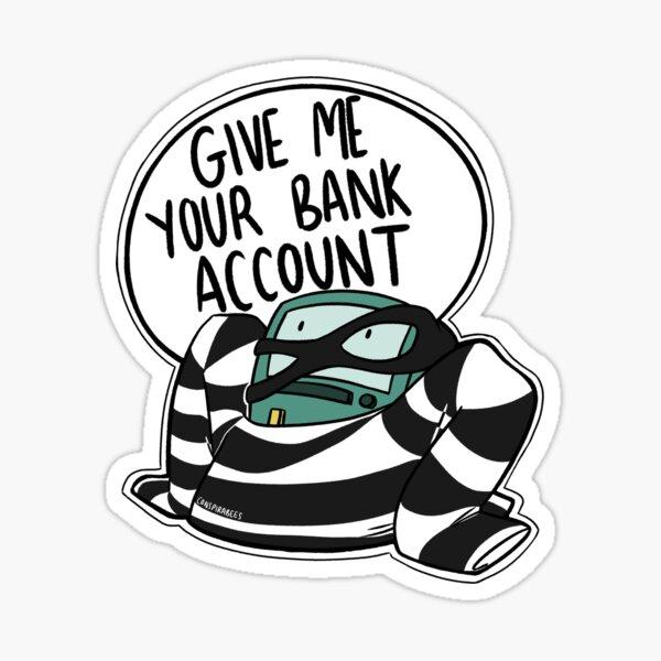 Bank Robber BMO Sticker