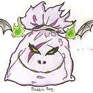 Purple Baddie Bag by BrokenBleedingAngel
