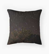 Star Trails with a flare Throw Pillow