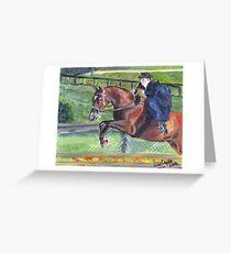 Sidesaddle Horse Show Portrait Greeting Card