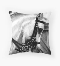 Lusitano Dressage Horse Portrait Throw Pillow