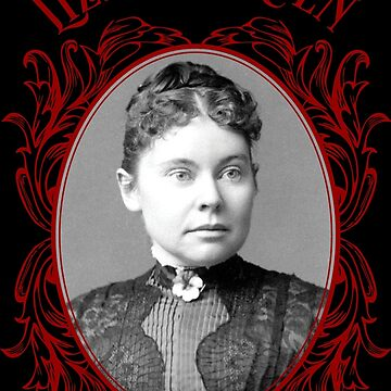 Lizzie Borden Pansy Brooch Portrait Red & Black by hollie13