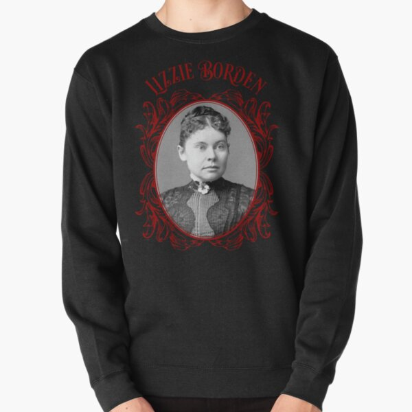 Lizzie Borden Pansy Brooch Portrait Red & Black Pullover Sweatshirt