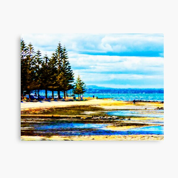 Altona Beach with The Dandenongs in the Distance Canvas Print