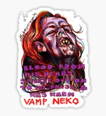 Vamp Neko Sticker