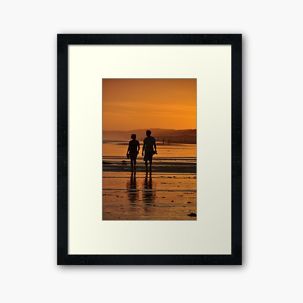Come Walk With Me - Redhead Beach NSW Framed Art Print