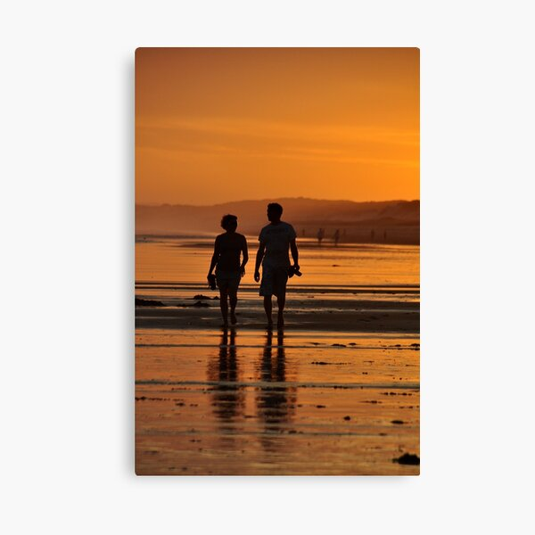 Come Walk With Me - Redhead Beach NSW Canvas Print