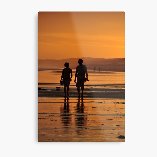 Come Walk With Me - Redhead Beach NSW Metal Print