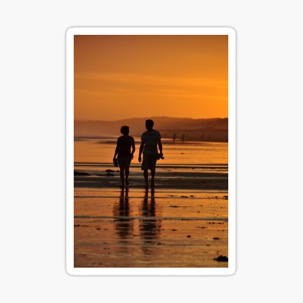 Come Walk With Me - Redhead Beach NSW Sticker