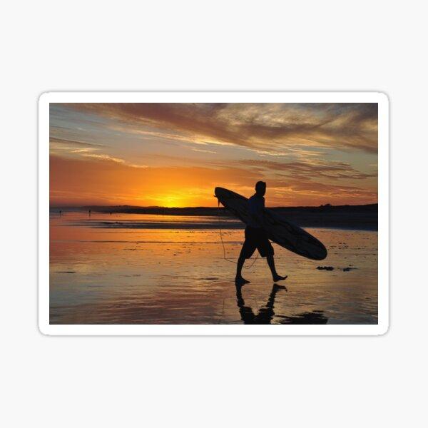 Surfer Silhouette - Redhead Beach NSW Australia Sticker