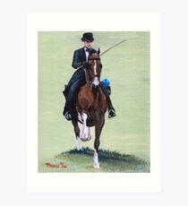 Elegance In Action American Saddlebred Horse Portrait Art Print