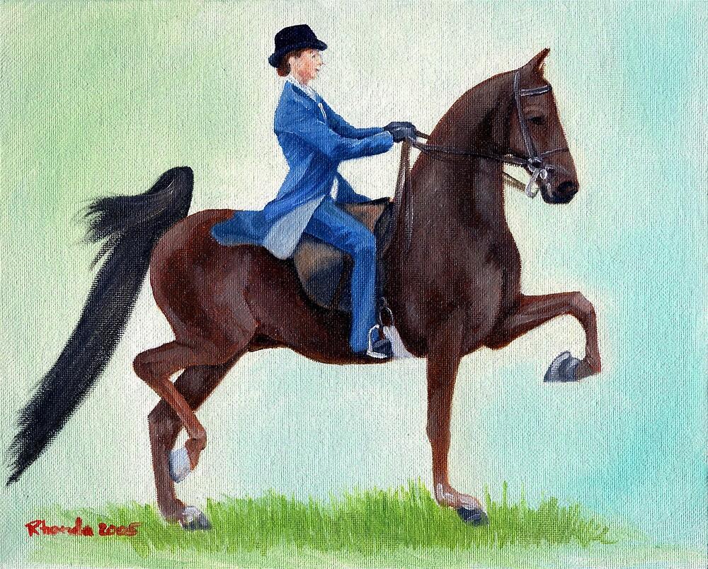 Exhuberation American Saddlebred Horse Portrait by Oldetimemercan