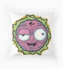 Bursting Grubber Monster Logo Throw Pillow