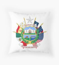 Reverse of the Seal of Texas Throw Pillow