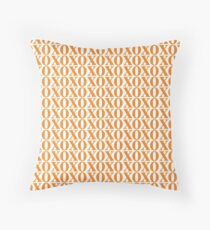 Orange XOXO Throw Pillow