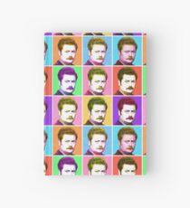 Ron Swanson Diptych  Hardcover Journal