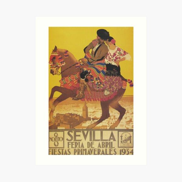 Seville Spain Vintage Travel Poster Art Print