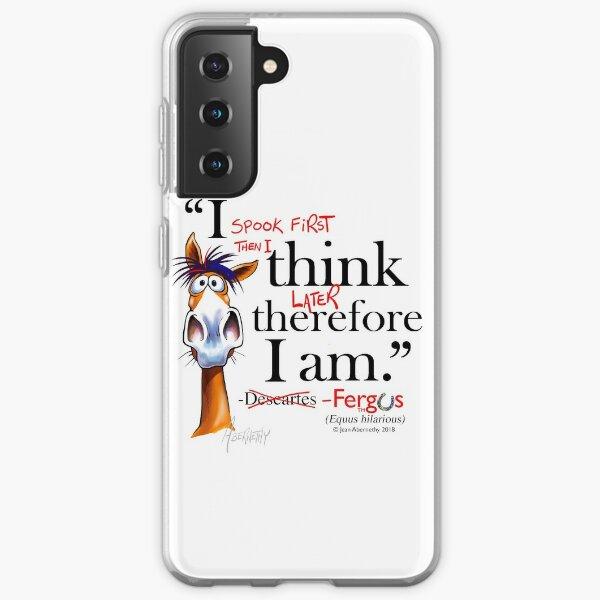 Fergus the Horse: Descartes (black) Samsung Galaxy Soft Case