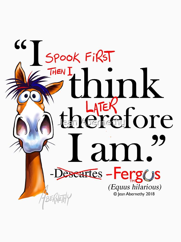 Fergus the Horse: Descartes (black) by JeanAbernethy