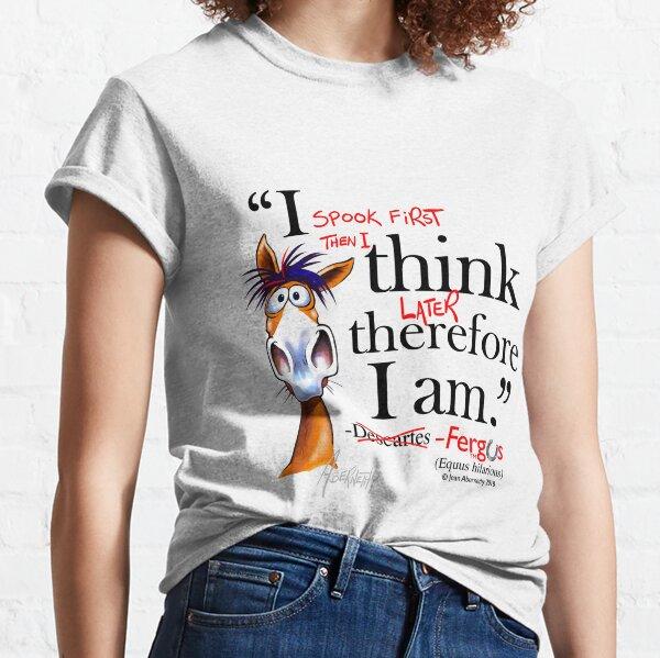 Fergus the Horse: Descartes (black) Classic T-Shirt