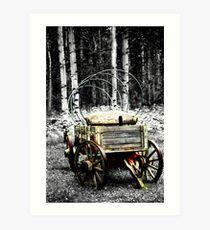 Uncovered Wagon II Art Print