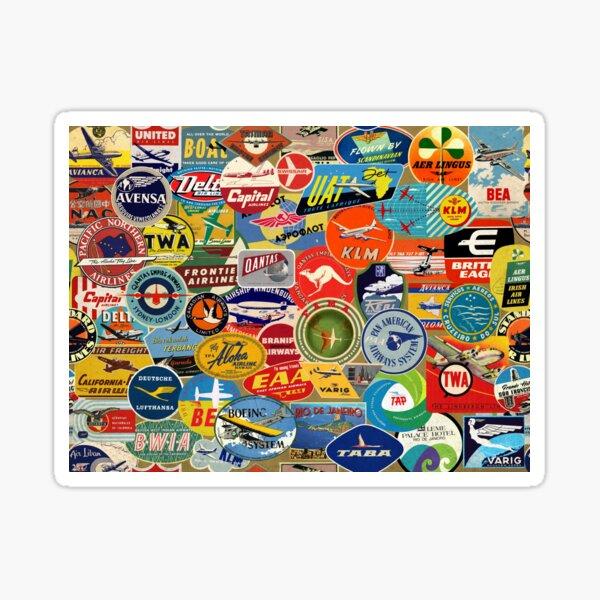 VINTAGE AIRLINES LABELS Sticker