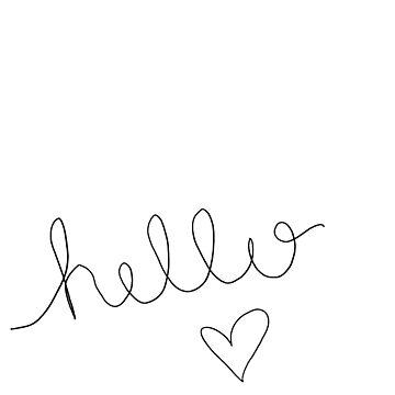 Hello.. <3 by rosetattoohes