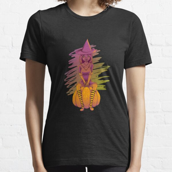 Witch Cutie on a Pumpkin Essential T-Shirt