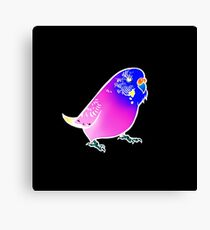 Budgie Love Psychedelic Print Canvas Print