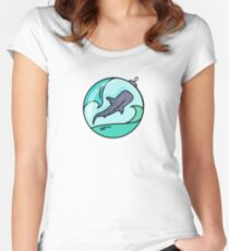 Whale shark illustration  Women's Fitted Scoop T-Shirt