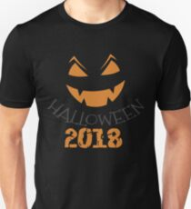 Scary Happy Halloween 2018 Unisex T-Shirt