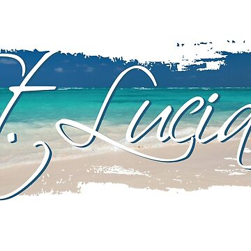 St Lucia, Beach Background by identiti