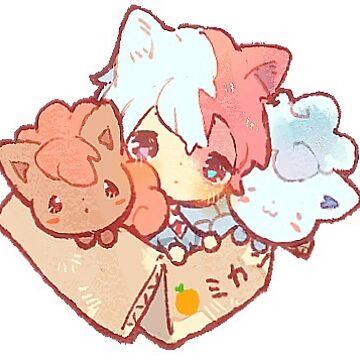 todoroki Shōto sticker by Rainbronii