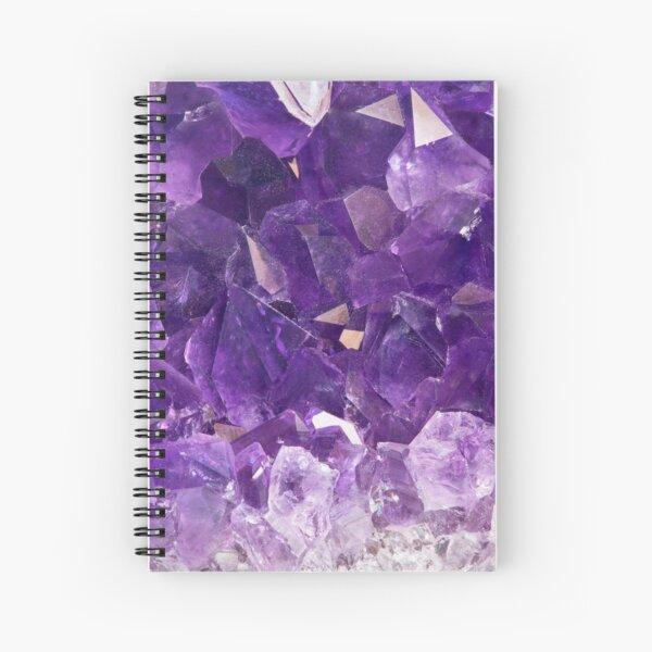 Purple Amethyst Crystal  Spiral Notebook