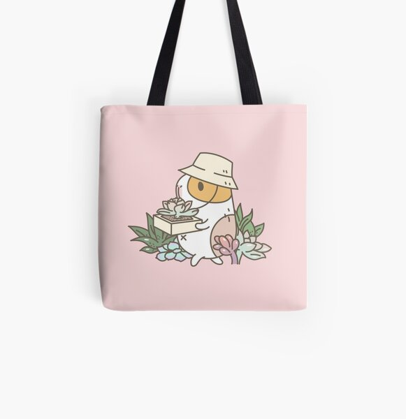 Bubu the Guinea Pig, Succulent Love All Over Print Tote Bag