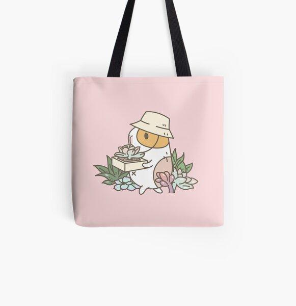 Bubu the Guinea Pig, Succulent Love All Over Print Tote Bag