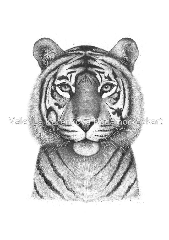 The Tigress by Valeriya Korenkova Kodamorkovkart