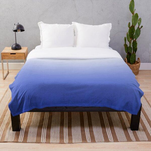 Vishuddha Chakra Blue Ombré  Throw Blanket