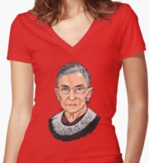 Supreme Court Justice Ruth Bader Ginsburg Women's Fitted V-Neck T-Shirt