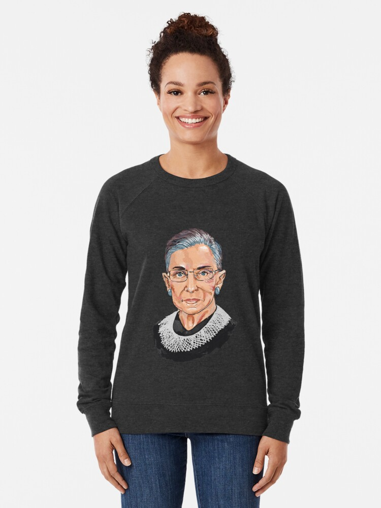 d25ff60ae808 Alternate view of Supreme Court Justice Ruth Bader Ginsburg Lightweight  Sweatshirt