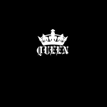 Queen Small Crown Apparel by mrkprints