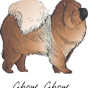 Chow Chow Vintage Style Drawing by efomylod
