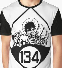 Nebraska State Highway N-134 (1926) | United States Highway Shield Sign Sticker Graphic T-Shirt