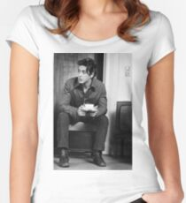Al Pacino drinking coffee  Women's Fitted Scoop T-Shirt