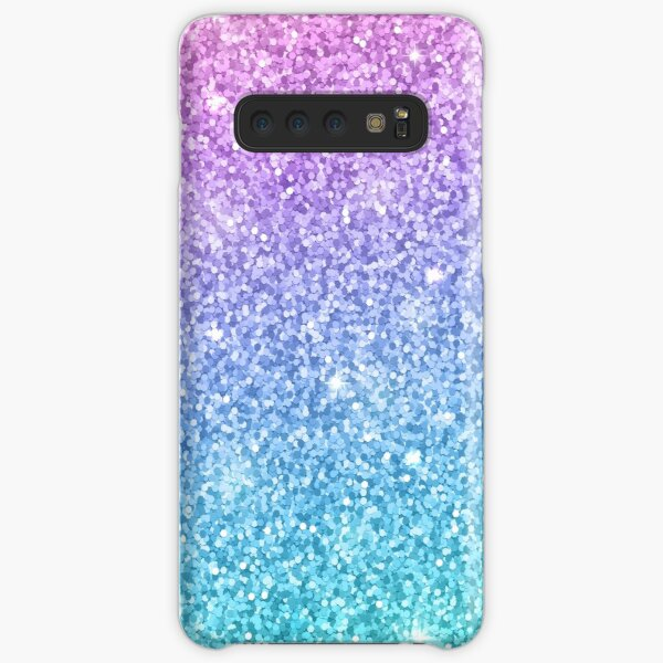 Purple Turquoise Glitter Ombre  Samsung Galaxy Snap Case
