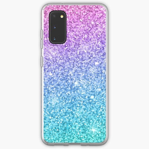 Purple Turquoise Glitter Ombre  Samsung Galaxy Soft Case