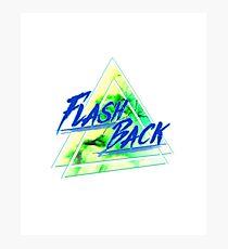 Lámina fotográfica Flash Back Neon azul y verde