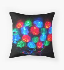 Underwater lights Throw Pillow